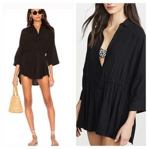 L*SPACE Pacifica Cover-Up Tunic in black size XS
